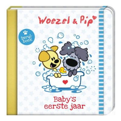 Woezel & Pip - Baby's eerste jaar - voorkant - invulboekjes.nl