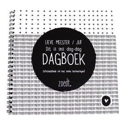 Zoedt Dag-dag dagboek - Lieve meester juf - voorkant - invulboekjes.nl