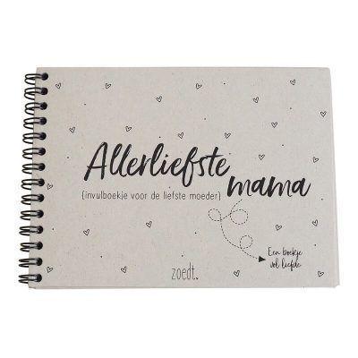 Zoedt Invulboek Allerliefste mama - voorkant - invulboekjes.nl