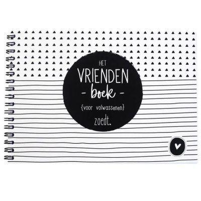 Zoedt Vriendenboekje voor volwassenen - voorkant - invulboekjes.nl