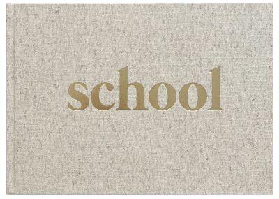 KIDOOZ Schoolfotoboek – Linnen goudfolie Boeken met gratis verzending