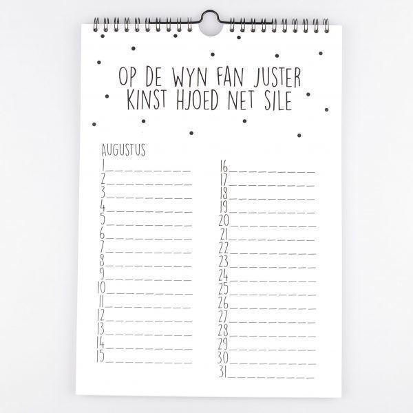 Verjaardag Kalender.Kruskes Verjaardagskalender Zwart Wit