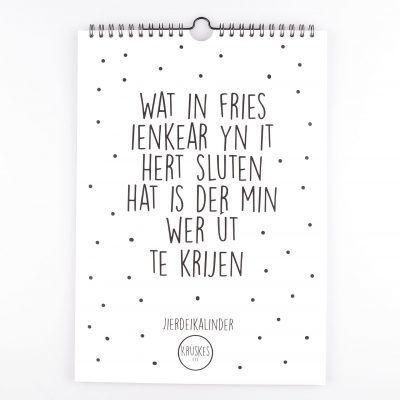 Krúskes Verjaardagskalender - Zwart-wit - voorkant - invulboekjes.nl