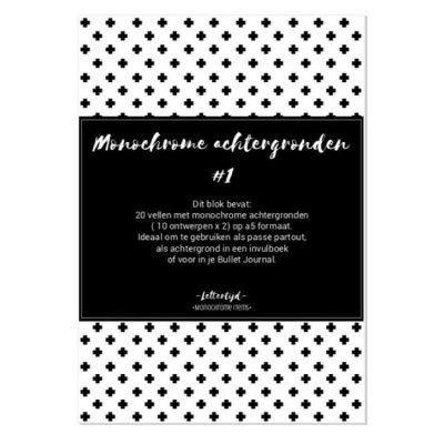 Lettertijd Monochrome achtergronden - Paper pack #1 - voorkant - invulboekjes.nl