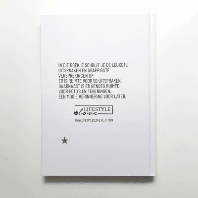 Lifestyle2Love Kletskous uitsprakenboekje - achterkant - invulboekjes.nl