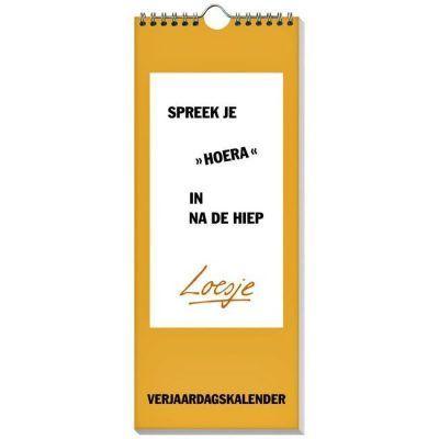 Loesje Verjaardagskalender - voorkant - invulboekjes.nl