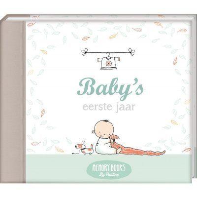 Memorybooks by Pauline - Baby's eerste jaar - voorkant - invulboekjes.nl