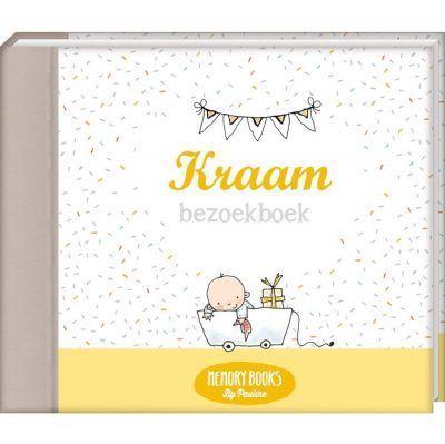 Memorybooks by Pauline - Kraambezoekboek - voorkant - invulboekjes.nl
