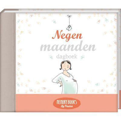 Memorybooks by Pauline - Negen maanden dagboek - voorkant - invulboekjes.nl