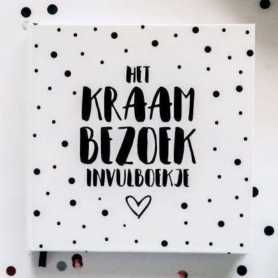 SilliBeads Het Kraambezoek invulboekje - Hardcover - voorkant - invulboekjes.nl