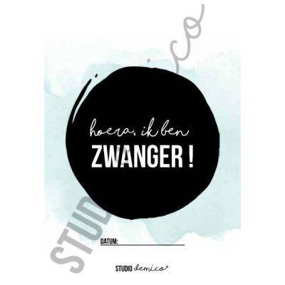 Studio DEMICO Mijlpaalkaarten set - Zwangerschap - kaart 1 - invulboekjes.nl