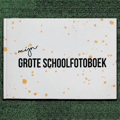 Studio DEMICO Mijn grote schoolfotoboek - Oker - voorkant - invulboekjes.nl