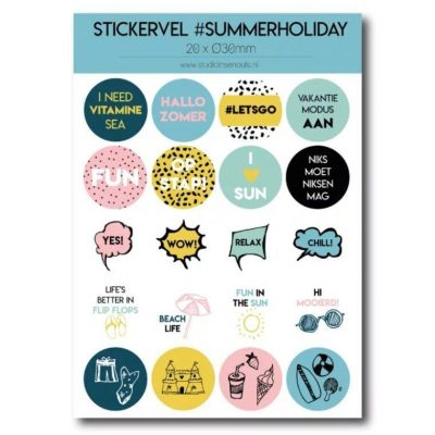 Studio Ins & Outs Stickervel 'Summer holiday' - invulboekjes.nl
