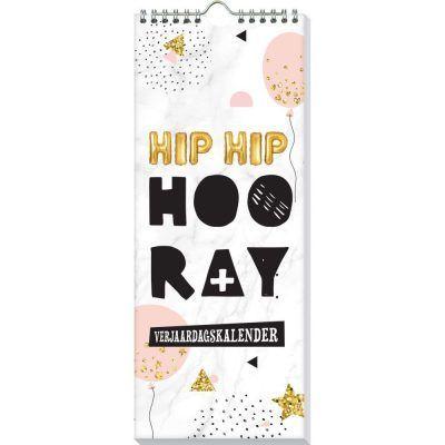 Verjaardagskalender Ballon - Hip hip hooray - voorkant - invulboekjes.nl