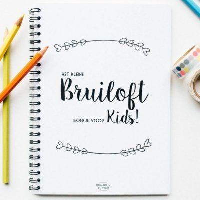 Bonjour to you - Bruiloft boekje voor kids - voorkant- invulboekjes.nl