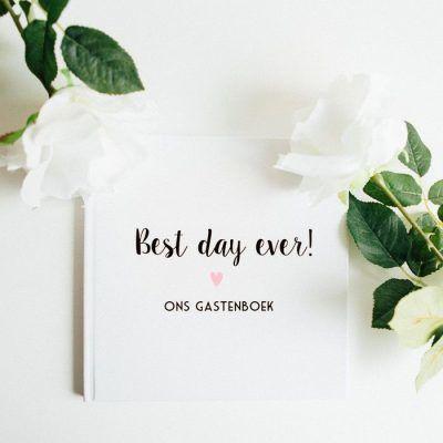Bonjour to you - Gastenboek Best day ever! - sfeerfoto - invulboekjes.nl