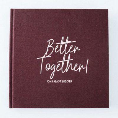 Bonjour to you - Gastenboek Better together! - voorkant - invulboekjes.nl