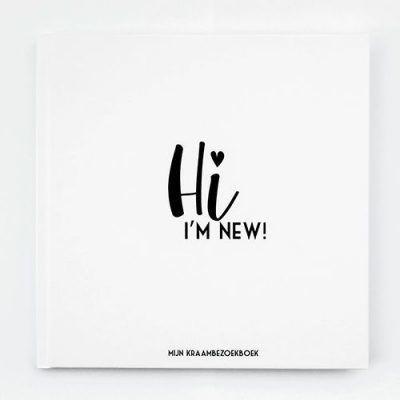 Bonjour to you - Kraambezoekboek Hi i'm new! - voorkant 4 - invulboekjes.nl