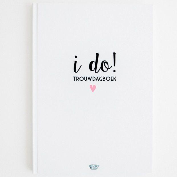 Bonjour to you - Trouwdagboek i do! - voorkant - invulboekjes.nl