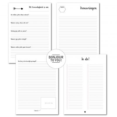 Bonjour to you – Trouwdagboek i do! Herinneringsboek