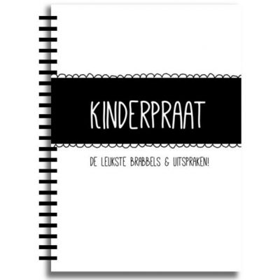 Creations of Happiness - Kinderpraat - ZwartWit- voorkant