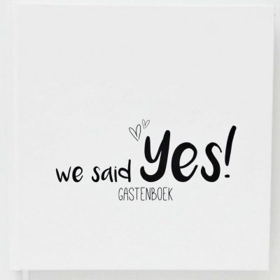 Creations of Happiness - We said YES Gastenboek - 1