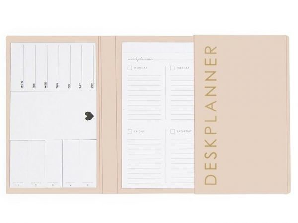 HOP Deskplanner - Ivory - binnenkant - invulboekjes.nl