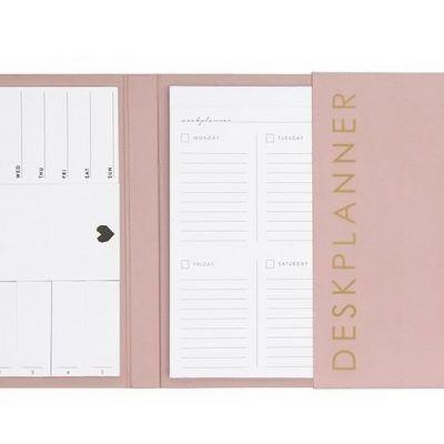 HOP Deskplanner - Pink - binnenkant - invulboekjes.nl