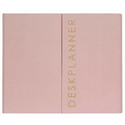 HOP Deskplanner - Pink - voorkant - invulboekjes.nl
