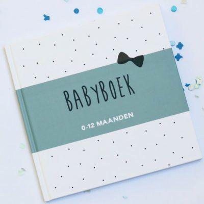 Huisje no.56 - Babyboek 0-12 maanden - Blauw - voorkant