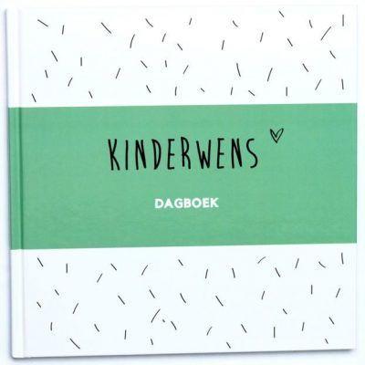 Huisje no.56 - Kinderwens dagboek - Groen - voorkant