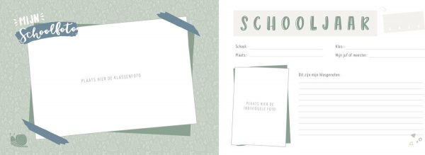 Maan Amsterdam - Mijn schoolfotoboek - Mint - binnenkant 3 - invulboekjes.nl