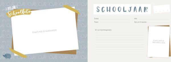 Maan Amsterdam - Mijn schoolfotoboek - Mint - binnenkant - invulboekjes.nl