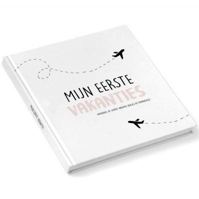 Pink Peach - Mijn eerste vakanties invulboek - Roze - voorkant - invulboekjes.nl