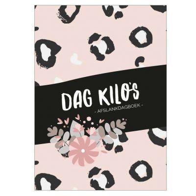 Studio DEMICO Dag kilo's dagboek - Panterprint - voorkant - invulboekjes.nl