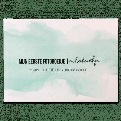 Studio DEMICO Mijn eerste fotoboekje - Echoboekje Mint - voorkant - invulboekjes.nl