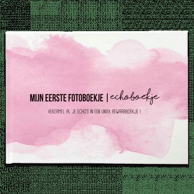 Studio DEMICO Mijn eerste fotoboekje - Echoboekje Roze - voorkant - invulboekjes.nl
