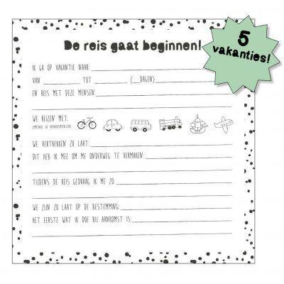 Tante Kaartje Mijn vakantieboek - Vol mooie herinneringen - binnenkant - invulboekjes.nl