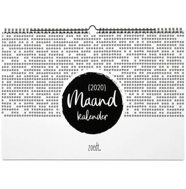 Zoedt Maandkalender 2020 - A3 - voorkant - invulboekjes.nl