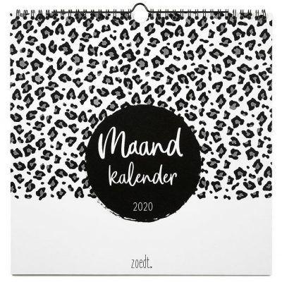 Zoedt Maandkalender 2020 - Vierkant - voorkant - invulboekjes.nl