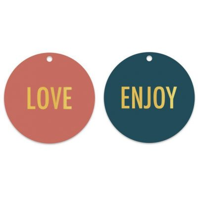 HOP Cadeaulabels - Love & Enjoy - invulboekjes.nl