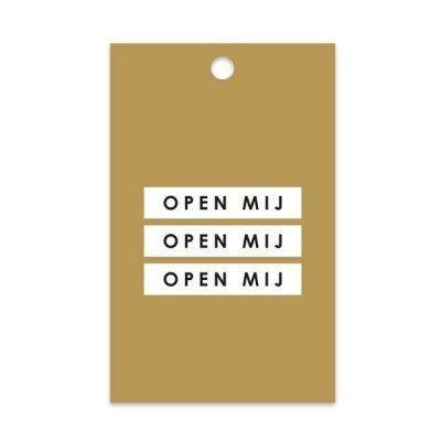 HOP Cadeaulabels - Open mij - invulboekjes.nl