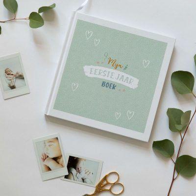 Maan Amsterdam – Mijn eerste jaar boek – Mint Babyboek