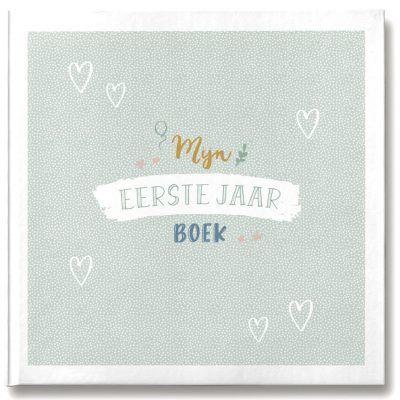 Maan Amsterdam - Mijn eerste jaar boek - Mint - invulboekjes.nl
