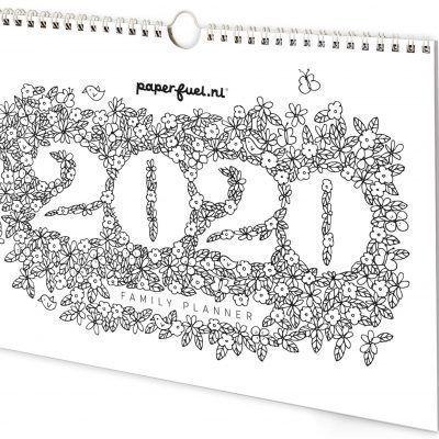 Paperfuel Familieplanner 2020 - voorkant - invulboekjes.nl