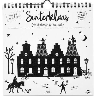 Zoedt Sinterklaas aftelkalender en doe-boek - voorkant - invulboekjes.nl