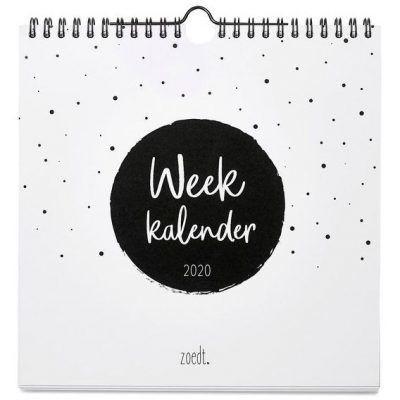Zoedt Weekkalender 2020 - Vierkant - voorkant - invulboekjes.nl