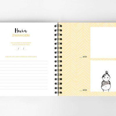 Atelier Pix - Hallo baby - Eerste jaar boek - Mint - 1 - invulboekjes.nl