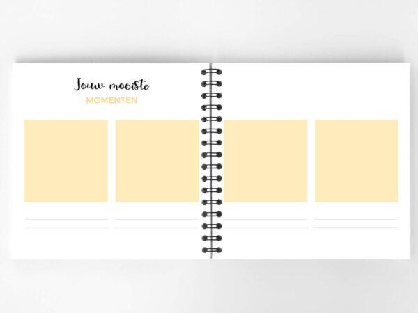 Atelier Pix - Hallo baby - Eerste jaar boek - Roze - 10 - invulboekjes.nl