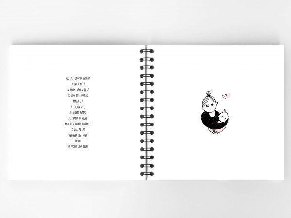 Atelier Pix - Hallo baby - Eerste jaar boek - Roze - 11 - invulboekjes.nl